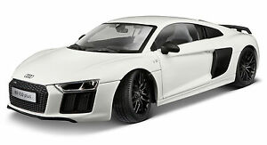 Maisto 1:18 Exclusivité Audi R8 V10 Plus, blanc, modèle détaillé, voiture miniature, modèle moulé sous pression 90159381358