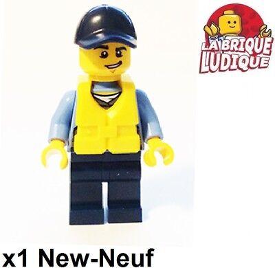 Figurine Minifig police policier officer officier gilet cty536 NEUF Lego