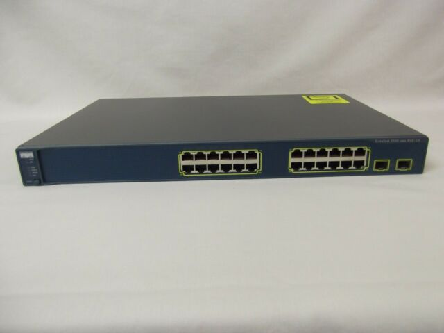 Cisco WS-C3560-24PS-S 24-Port Layer 3 POE Switch w//3560-24PS-E ios Web Interface