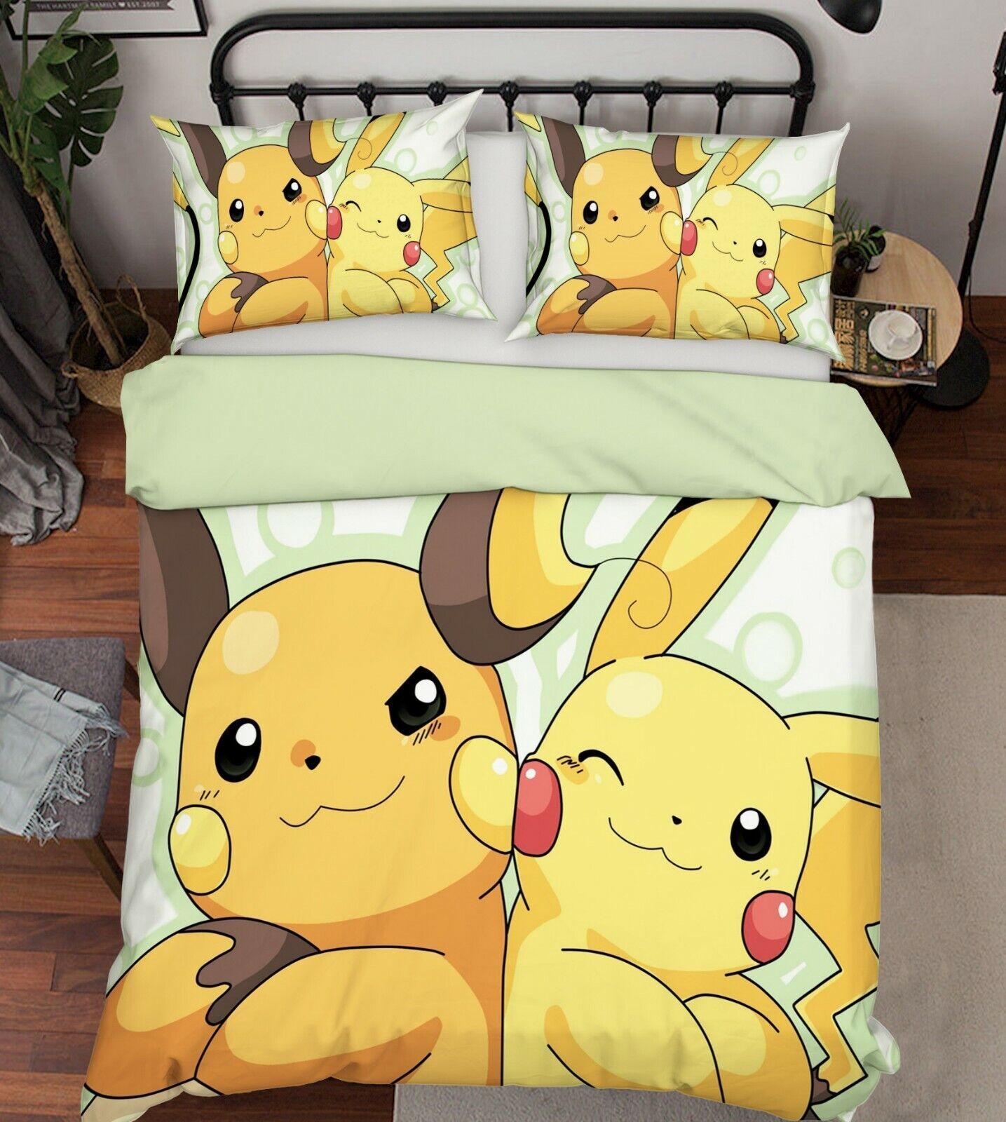 3D Duvet Cover for Pokemon 988 Japan Anime Bed Pillowcases Quilt Duvet Cover Wen