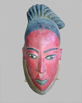 46) Baule Maske Alt Afrika / Masque Baoule Ancien / Old Tribal Baule Mask Bequem Zu Kochen