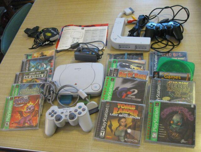 Sony PlayStation 1 PS1 Bundle~Console, Multi-tap, & Lot 13 Games~GT2, Spyro, etc