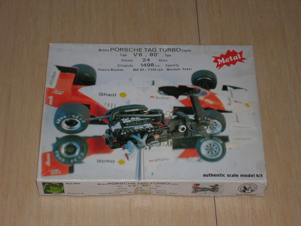 1 12 KIT PredAR Auditions McLaren Porsche Metal Engine Kit Mod. 208 e