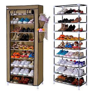 10 schuhregal st nder f r 40 paar schuhe aufbewahrung - Schuhschrank fa r 40 paar schuhe ...