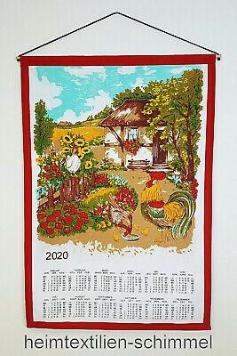 Textiler Wandkalender 2020 Textilkalender Stoffkalender Kalender HAUS 45x65cm