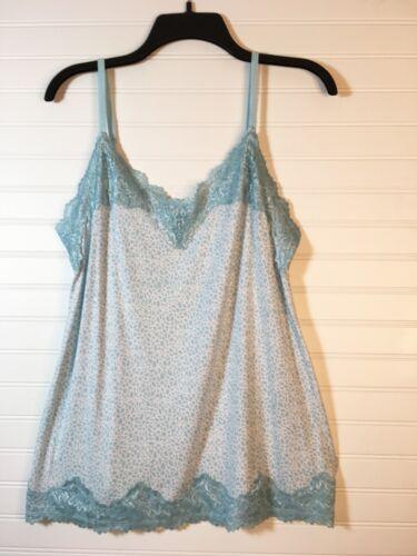 Size 14//16 New w Tags Straps Adj Lane Bryant Women/'s Blue /& White Lace Cami