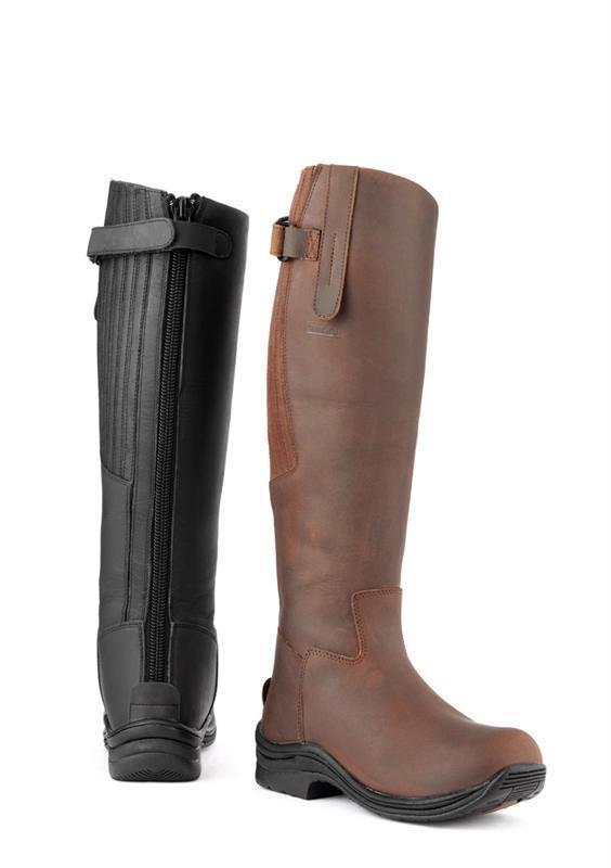 Toggi CALIBER Tall Stivali resistente all' acqua acqua acqua oleosa leather-pu Suola in Gomma Cavallo PONY e513fb