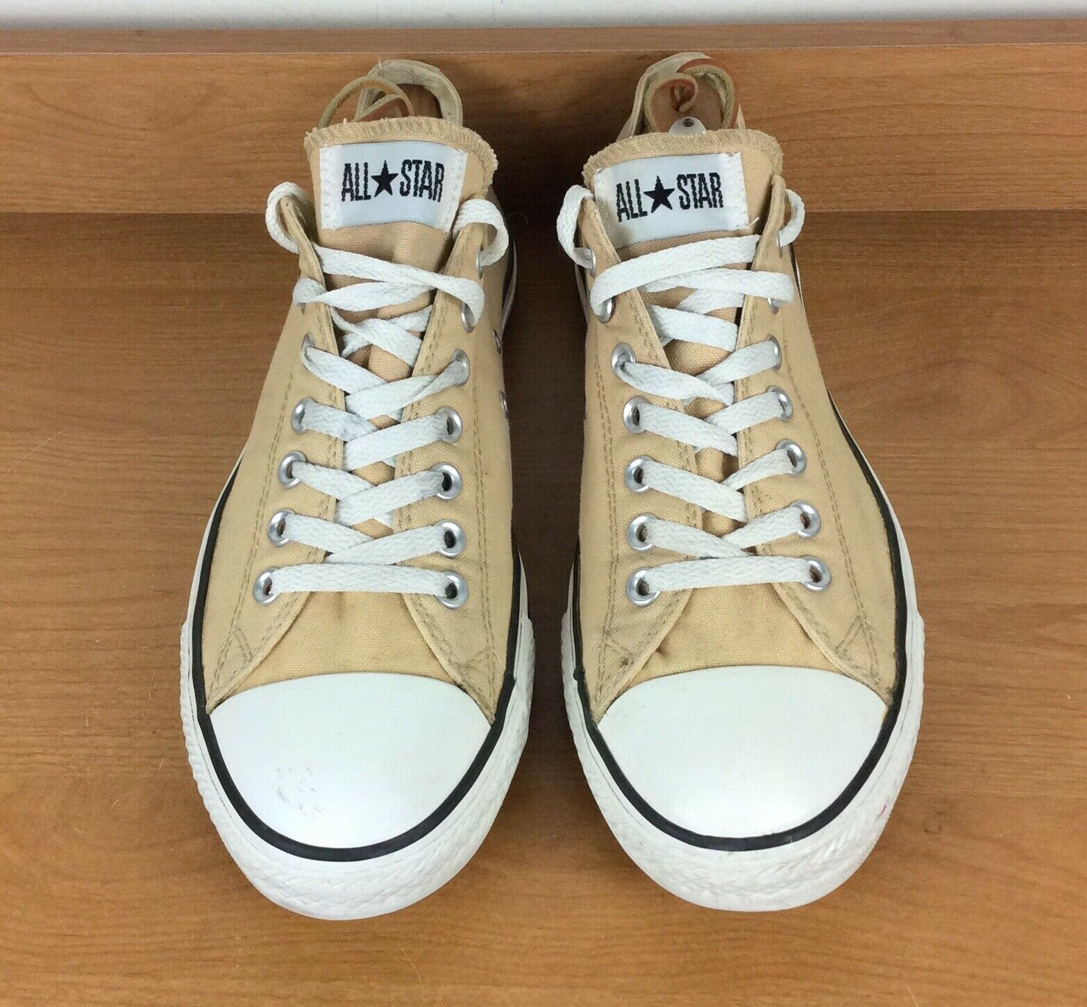lace up in reputable site recognized brands Converse All Star, Men's Sz 11, Khaki Canvas Low Top Sneakers ...