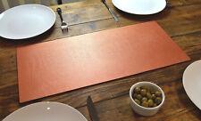 ARTISAN BROWN Bonded Leather TABLE RUNNER MAT Centerpiece MADE IN UK Desk Mat