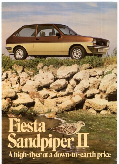 Ford Fiesta Finesse Mk 1 UK market sales brochure c1980
