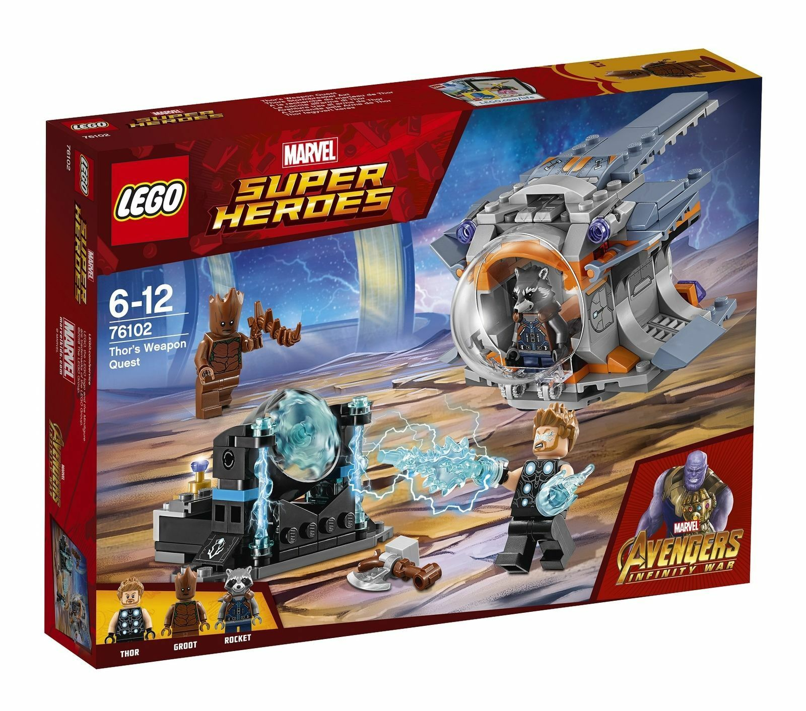 LEGO Marvel Super Heroes Thor's Weapon Quest  SET 76102 AVENGERS INFINITY WAR  1