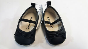 NWT-Old-Navy-Baby-Girls-Size-3-6-Months-Black-Dressy-Ballet-Flats-Crib-Shoes