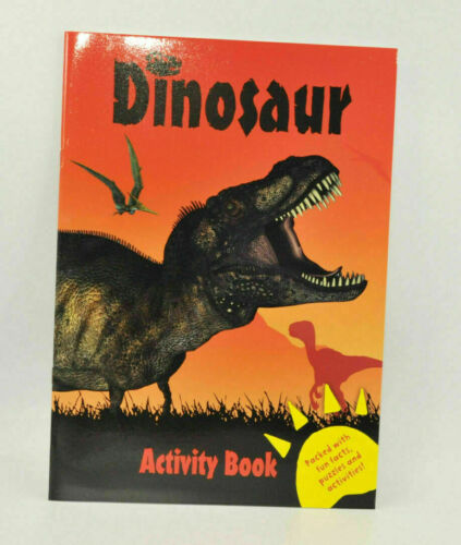 Dinosaur Colouring and Activity Book Fun Kids Books Children/'s Drawings Dino Art