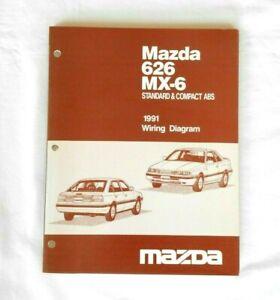 1991 Mazda 626 MX-6 MX6 Electrical Wiring Diagram Factory ...