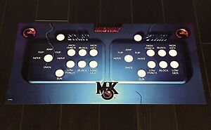 Mortal Kombat 3 Arcade Control Panel Overlay 7 Button Mk3