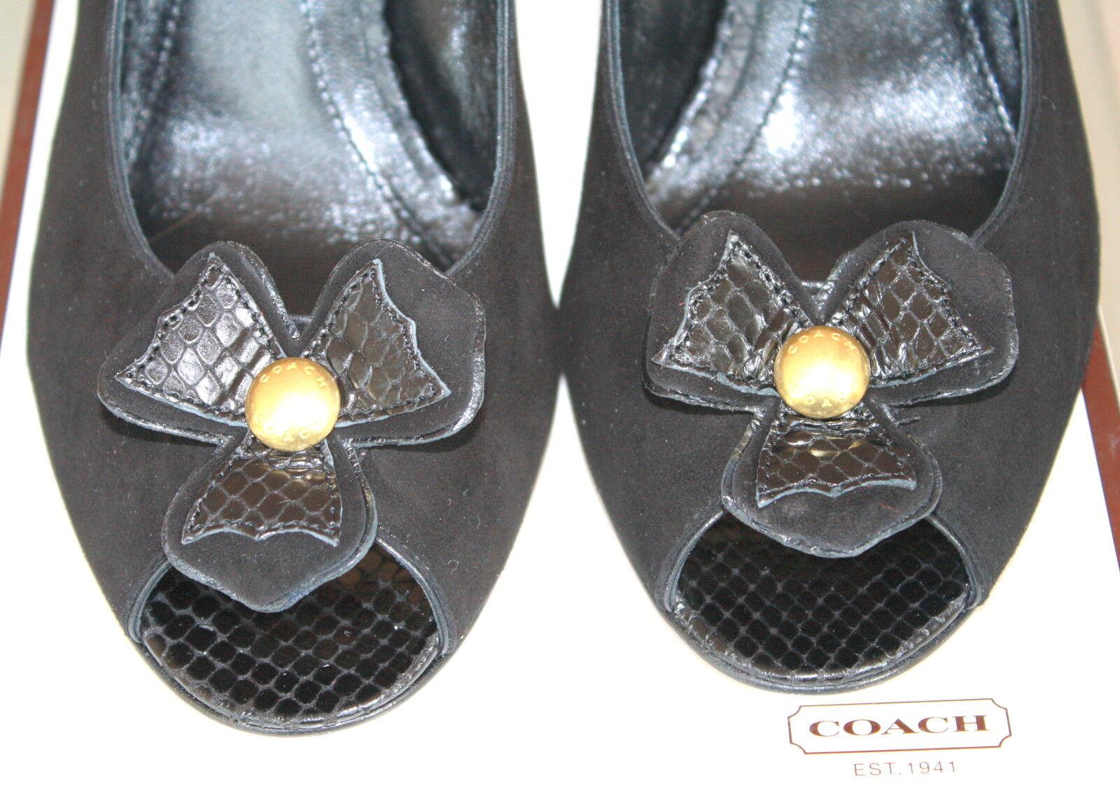 Zapatos De Cuero nuevos En En En Caja Gamuza Negra Emily entrenador señoras de 8 M  venta caliente en línea