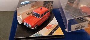 VITESSE-CITY-1-43-RENAULT-4L-POMPIERS-DE-PARIS-1968-NEUF-EN-BOITE