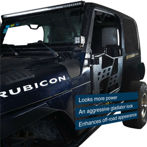 Black Five Star ABS Body Armor Cowl Guards Trim Cover for Jeep Wrangler TJ 97-06