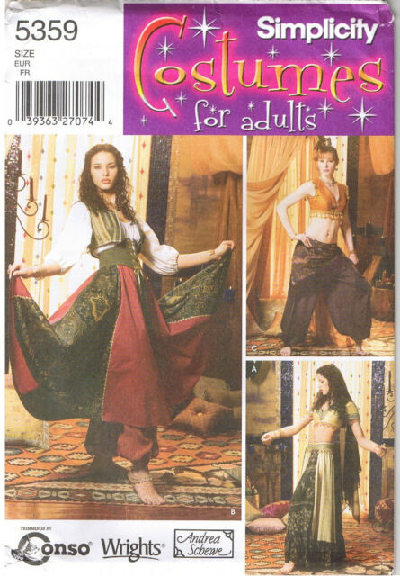 simplicity Sewing Pattern for Ladies Belly Dancing Costumes - 5359 ...