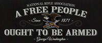 Nra Bumper Sticker A Free People Ought To Be Armed Window Decal Dtom 2a Tactical