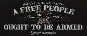 NRA-Bumper-Sticker-A-FREE-PEOPLE-OUGHT-TO-BE-ARMED-window-decal-Political-DTOM