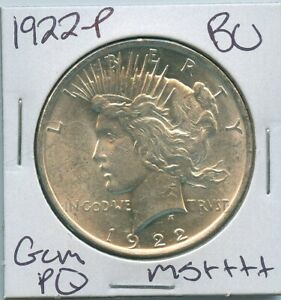 1922-P-Peace-Dollar-Uncirculated-US-Mint-Coin-PQ-Gem-Silver-Coin-BU-Unc-MS