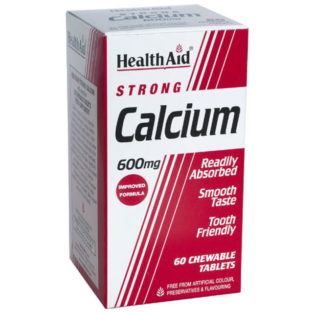 Health Aid Strong Calcium 600mg - 60 chewable tablets