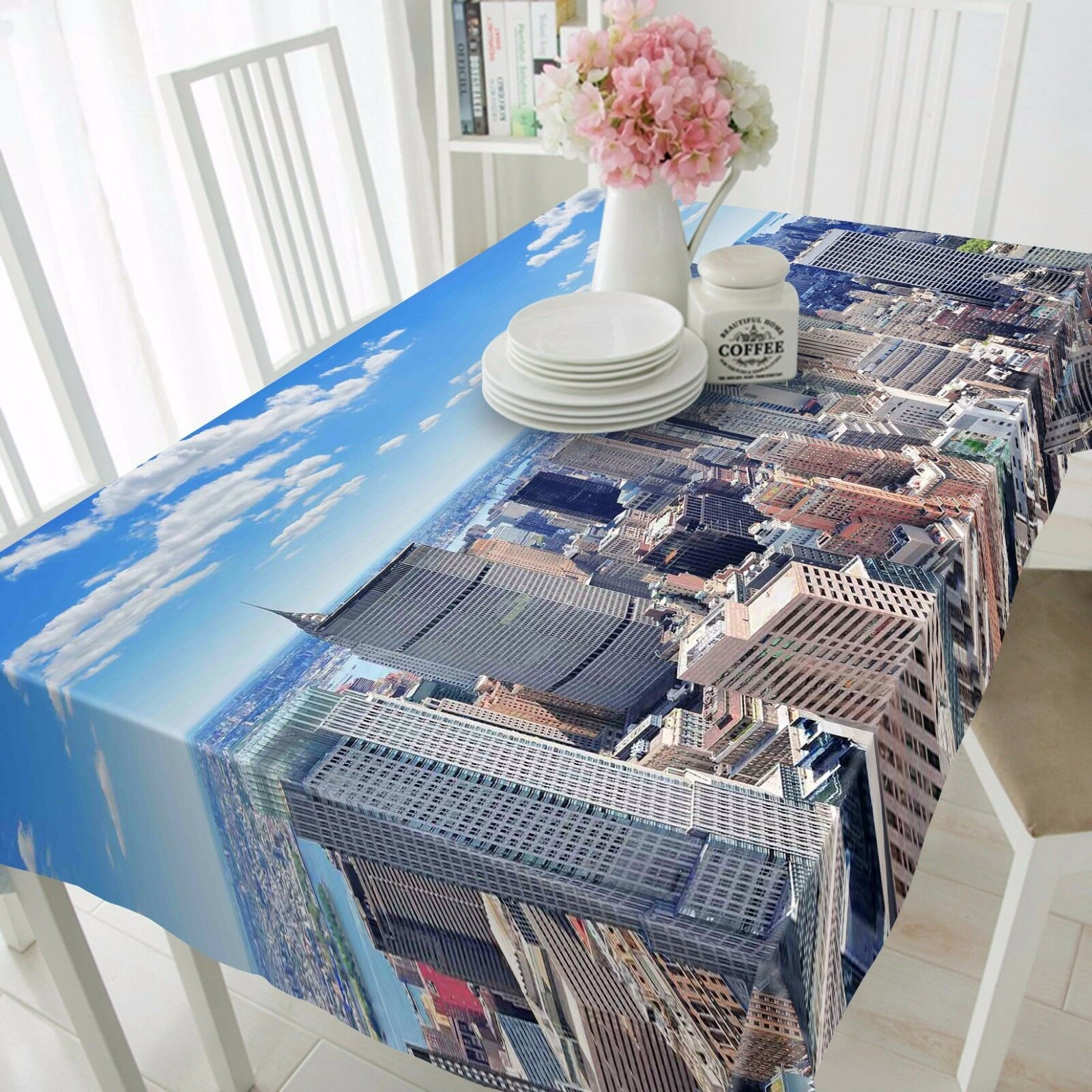 3D Sky city 97 Tablecloth Table Cover Cloth Birthday Party Event AJ WALLPAPER AU