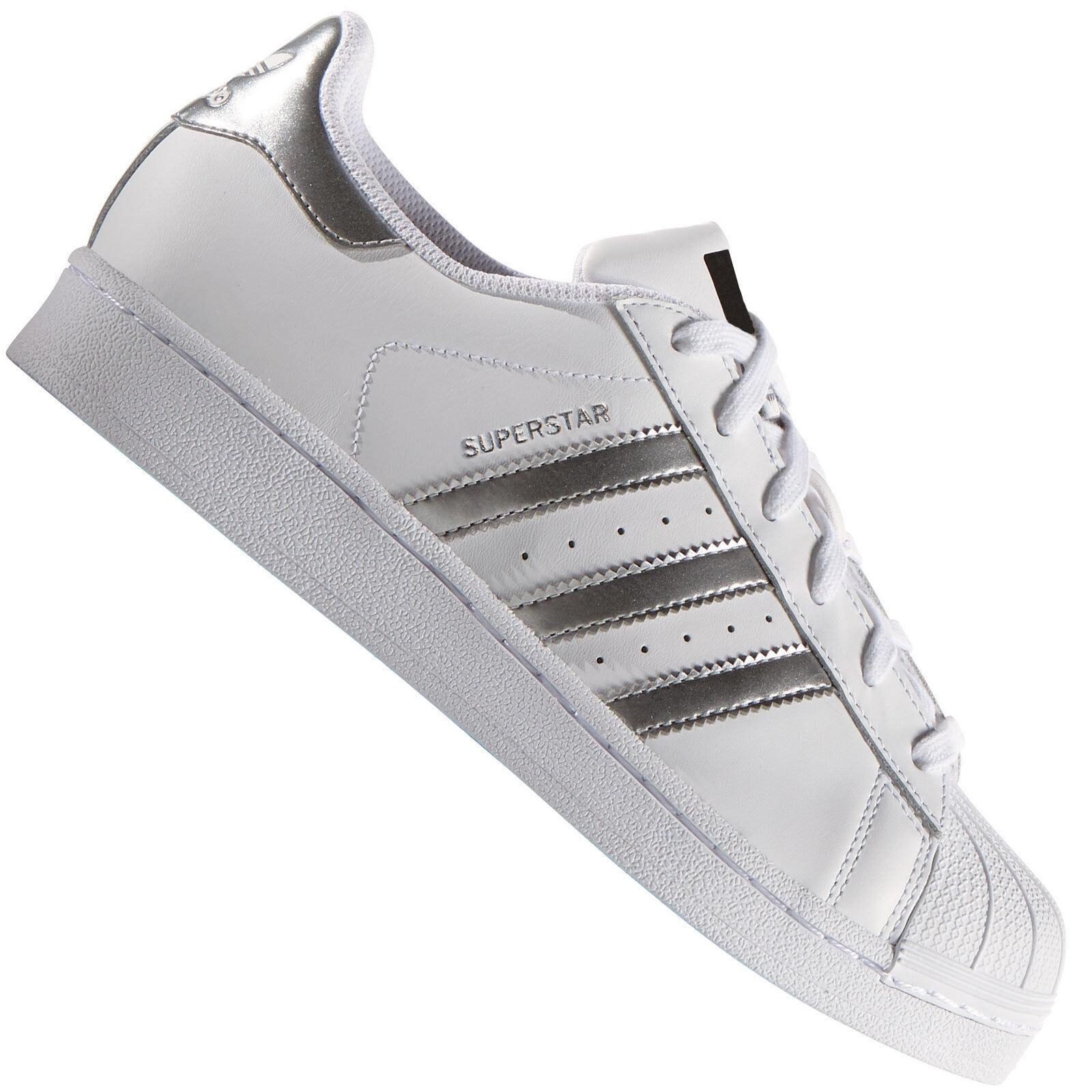 Adidas Originals Superstar Sneaker women Bianco silver AQ3091 shoes da