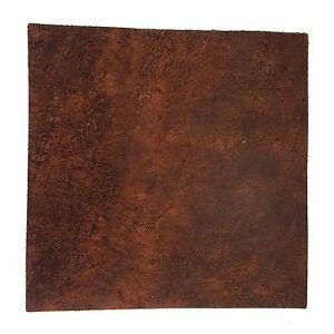 "Distressed 4oz 1.6mm Buffalo Finished Leather Split 12""x12"" Pre-Cut"