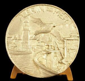 Medaglia-il-Porta-Del-Legue-a-Plerin-su-034-Bretagna-Costa-Armor-64-mm-Medal