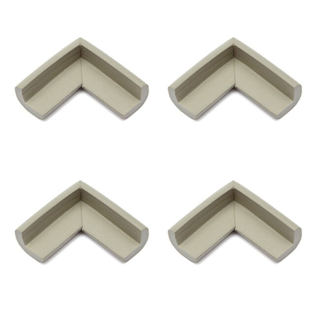 4pcs Baby Safety Table Edge Cover Corner Protector Cushion gray J3G8