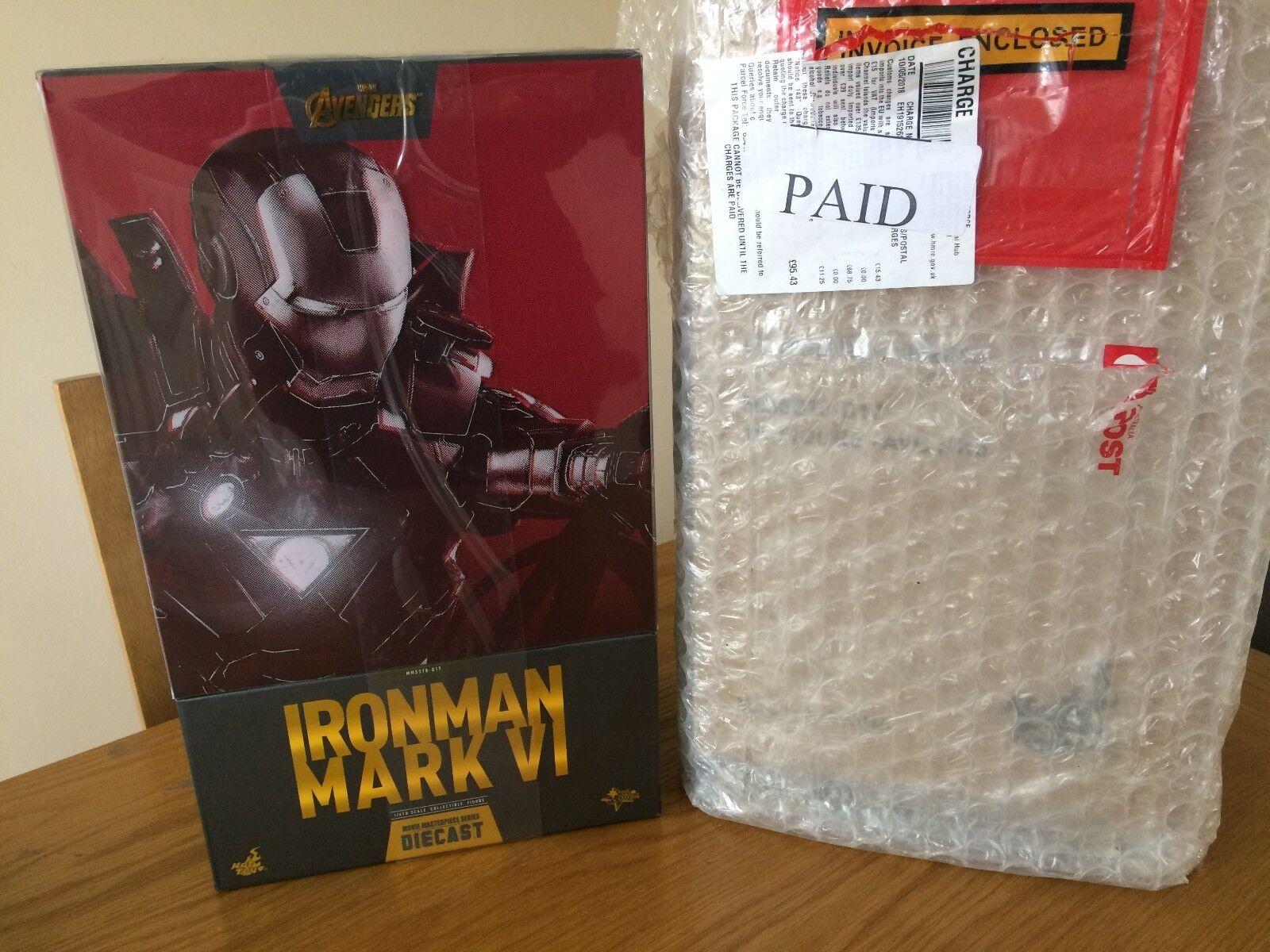 Los Vengadores-Iron Man Mark Vi (6) 16th escala Hot Toys Die-Cast Figura De Acción