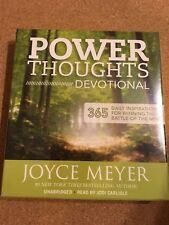 Power Thoughts Devotional : 365 Daily Inspirations for Winning the Battle of the Mind by Joyce Meyer (2013, CD, Unabridged)