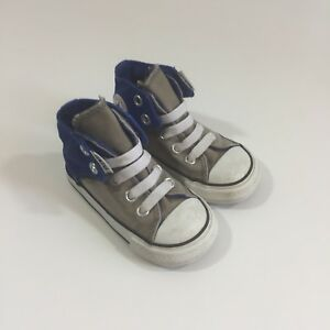 be0d10772cc51b Toddler Converse All Star Easy On Sneakers size 5 j5 grey blue chuck ...