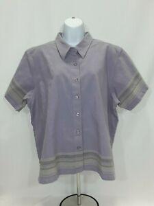 Women-039-s-2XL-Purple-Cabela-039-s-Short-Sleeve-Dress-Shirt