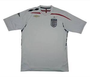 England 2007-09 ORIGINALE Maglietta (eccellente) L soccer jersey
