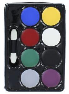 Henbrandt-Make-Up-Face-Paint-8-Assorted-Colours-Fancy-Dress-Accessory-Palette