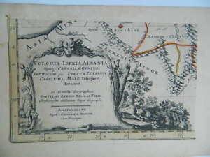 Grabado Siglo Xvii Sanson Guillaume Cartucho Illustrated 1667
