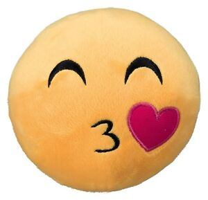 Details about Emoji Dog Puppy Toy Kissing Face Yellow 14cm plush stuffed  34775