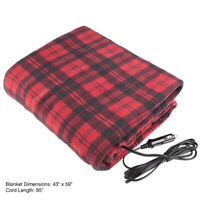 Trademark Home Electric Car Blanket Heated 12 Volt Fleece Travel Throw