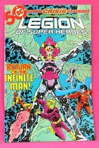 Legion of Super-Heroes #18 Return Infinite Man 1986 Comic DC ComicsF-//F