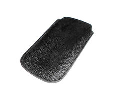 NEW BLACK LEATHER POUCH APPLE IPHONE 4 4S SMARTPHONE CASE SUPER FAST SHIPPING