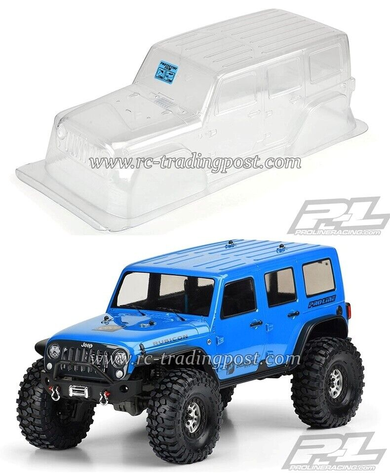 Jeep Wrangler Unlimited Rubicon Clear Body for 12.8  (325mm) Wheelbase TRX-4