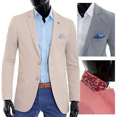 Men/'s Summer Blazer Jacket Casual Formal Spotted Mint Green Vivid UK Size Cotton