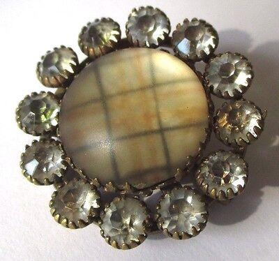 Pins & Brooches Jewelry & Watches Knowledgeable Rare Brosche Runde Vintage Goldfarben Schmuckstück Antik Cabochon Perlmutt