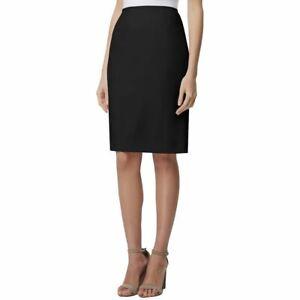 Tahari Women/'s Petite Textured Crepe Pencil Skirt