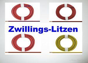 27-9-39ct-m-Zwillingslitze-0-14-mm-5m-und-50m-Ringe-AUSWAHL-NEU