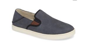 1225434983f Olukai Kahu Kai Dark Shadow Off White Loafer Slip-On Men s sizes 7 ...