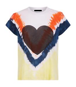 Wildfox Couture Woherren Blau Tie Dye Heart Short Sleeve Tee Shirt Größe Medium